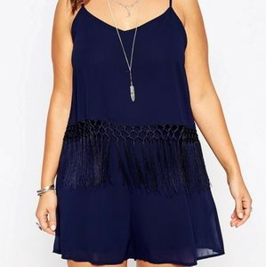Alice and You Fringe Waist Playsuit